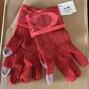 Coach gloves women's